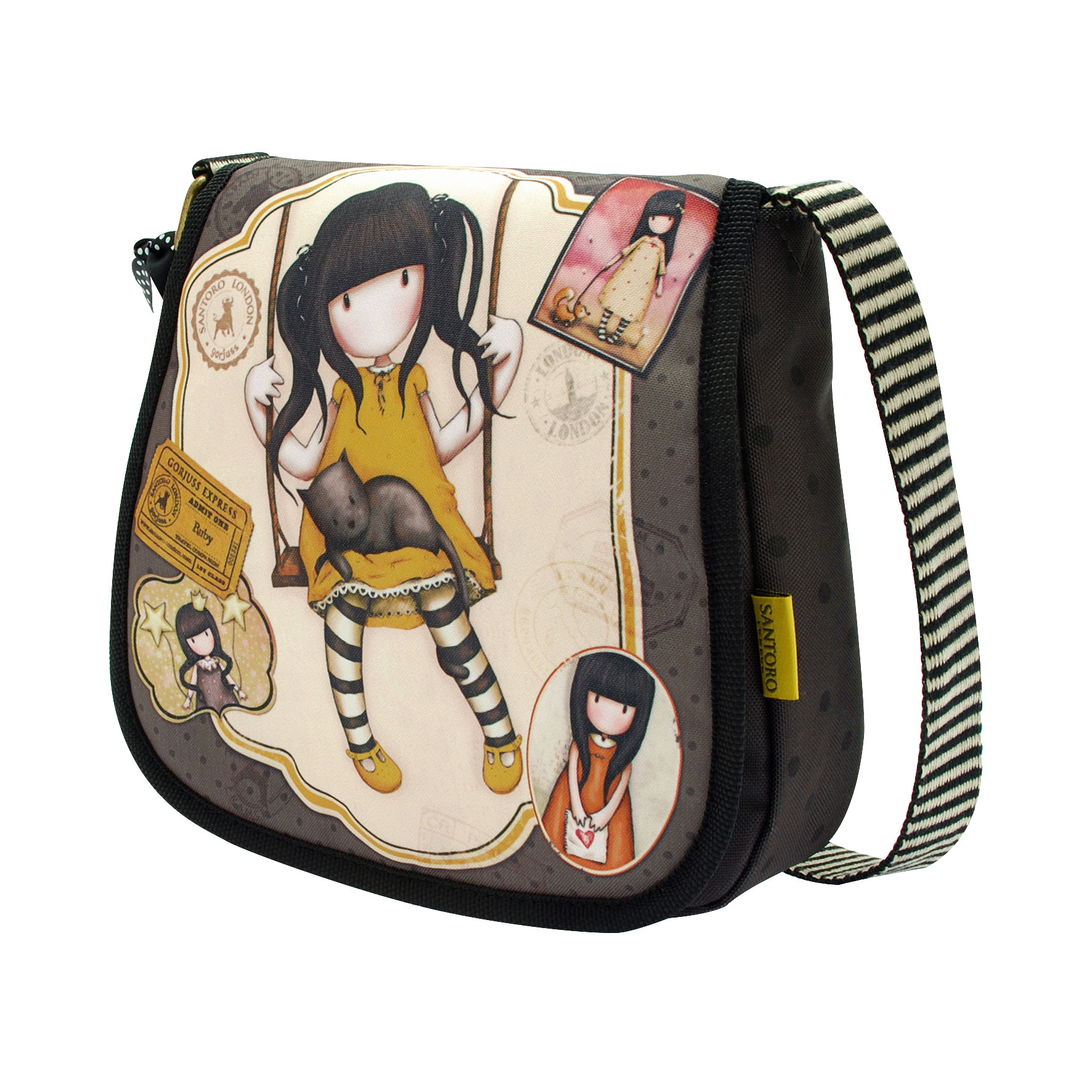 Kabelka Gorjuss Vacation Small Shoulder Bag with Flap - Ruby Yellow 563GJ03